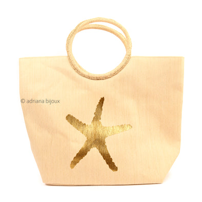 Sea Star Straw Tote Bag
