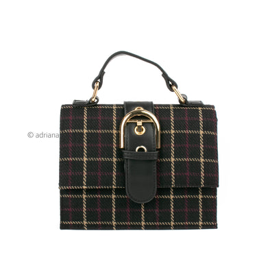 Plaid Buckle Bag