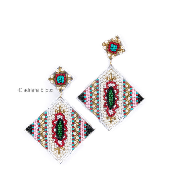 Muiticolored Beaded Earrings