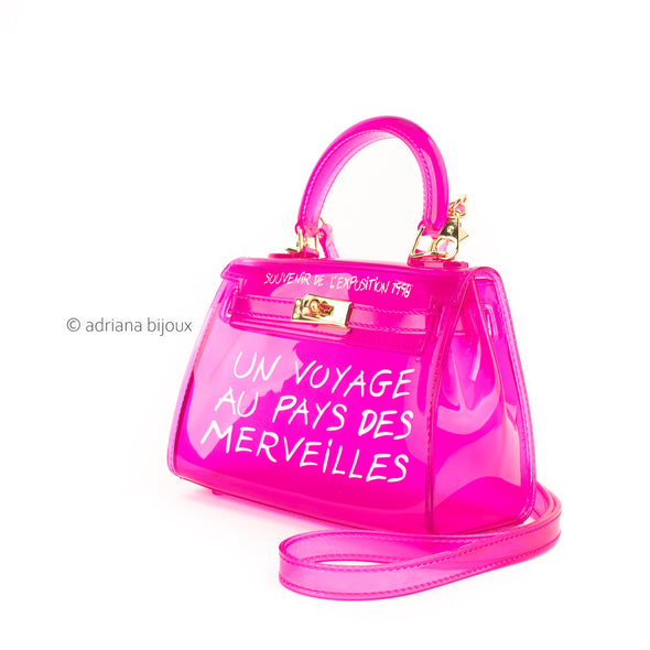 Small Neon Wonderland Jelly  Bag
