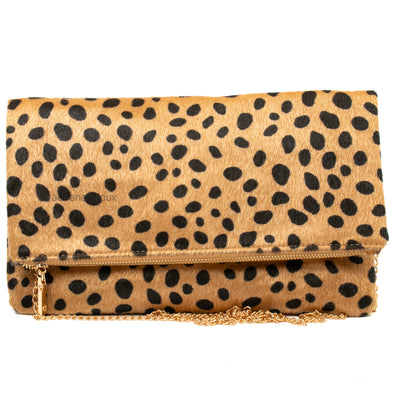 Animal Print Faux Fur Clutch