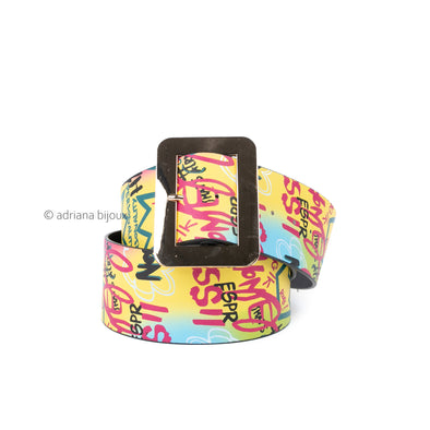 Wide Graffiti X-Large Belt