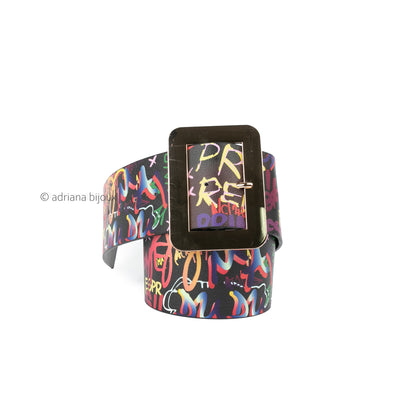 Wide Graffiti Belt