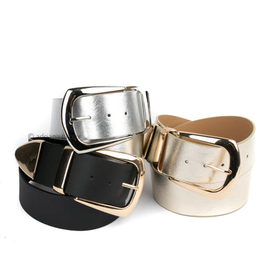 Metallic Wide Belt