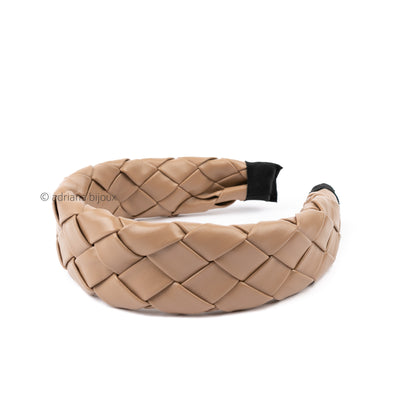 Quilted Faux Leather Headband