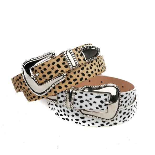 Animal Print Thin Belt