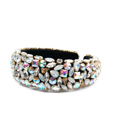 Large Clear Jewel Headband