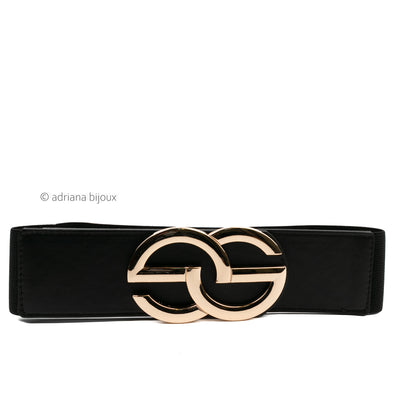 Large Golden Buckle Elastic Belt