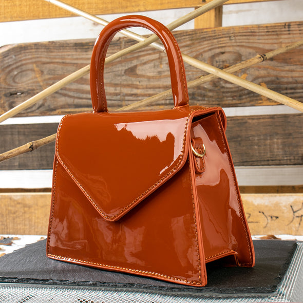 Autumn Patent Faux Leather Small Bag