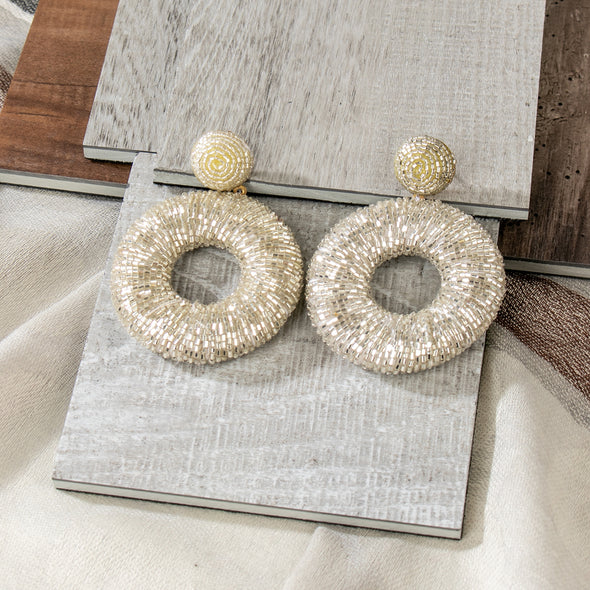 Alfie Beaded Wrap Earrings