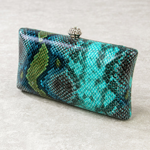 Giorgia Snake Print Clutch Bag