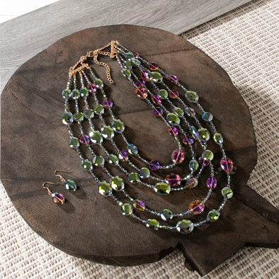Coretta Multi Strand Necklace Set