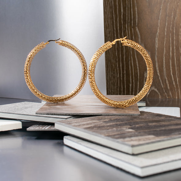 Sandy Stainless Steel Hoop Earrings