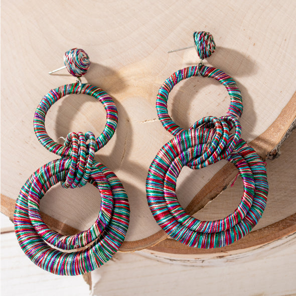 Briza Multicolor Hoops Earrings