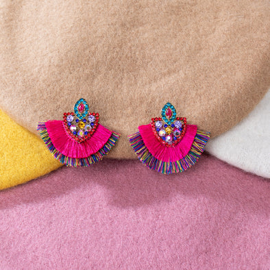 Jacquie Stone and Tassel  Earrings