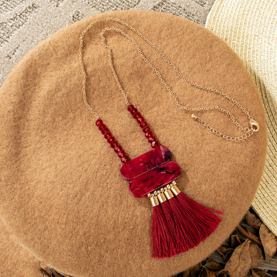 Bertie Tassel Long Necklace