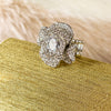 Pomono Flower Rhinestone Ring