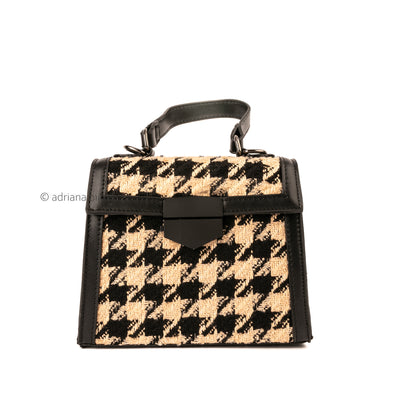 Houndstooth Square Bag