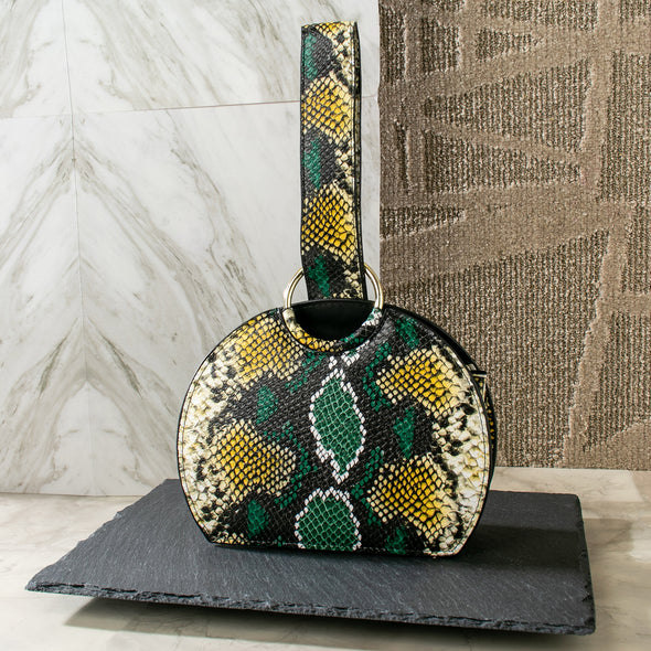 Stacia Colorful Snake Prints Wristlet Bag