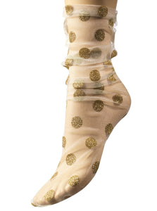 Gold Mette flamingo socks
