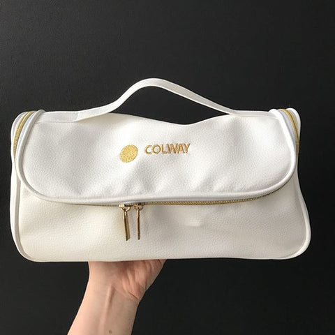 Luxury Cosmetic Box in White and Gold - Mediluxe