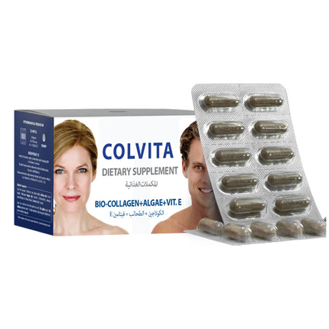 Colvita: Natural Collagen Pills with  Algae + Vitamin E for Anti-Aging, Hair, Skin, Nails and Joints - Mediluxe
