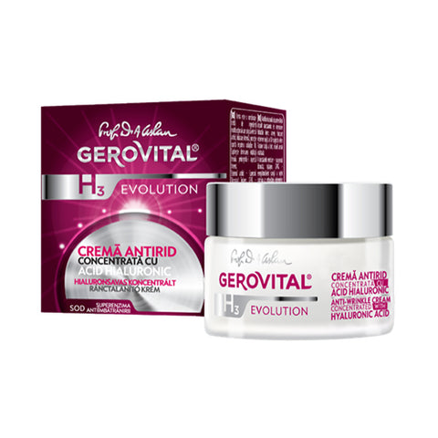 Image of Gerovital | Anti-Wrinkle Cream Concentrated with Hyaluronic Acid - Mediluxe