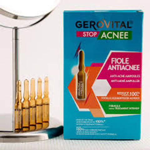 Image of Anti-Acne Ampoules | Size 10 ampoules x 2 ml | Gerovital