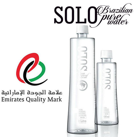 SOLO | Naturally Alkaline Water from Brazil, 100% Upcycled Bottle, 1.000mL (Pack of 30) - Mediluxe