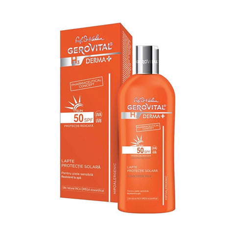 Image of Gerovital - Sunscreen Milk SPF 50 - Mediluxe