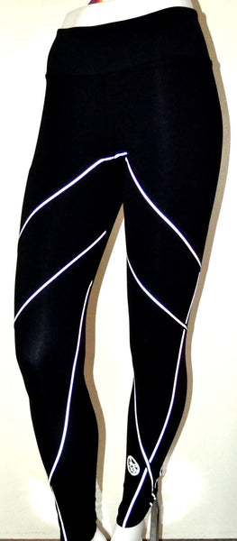 Womens CrissCross Reflective Leggings