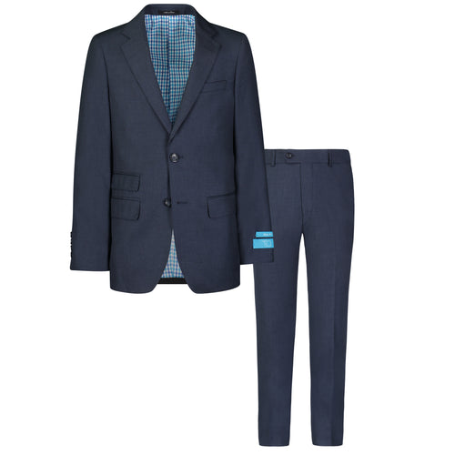 T.O. BOYS HEATHER BLUE SUIT