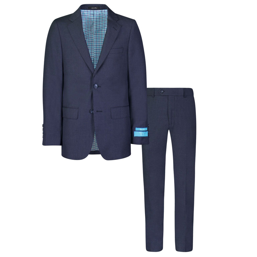 T.O. BOYS BIRDSEYE NAVY SUIT