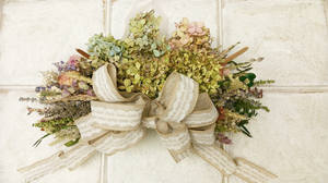 English Cottage Garden Dried Floral Swag