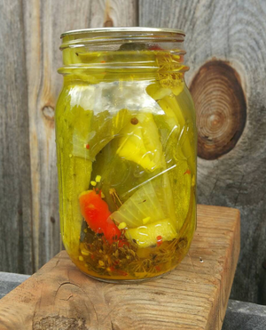 Spicy Dill cucumber pickle spears -16 oz Pint Jar