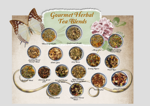Citrus and Vanilla Gourmet Herbal Tea Blend: Set of 2 Tea Bags