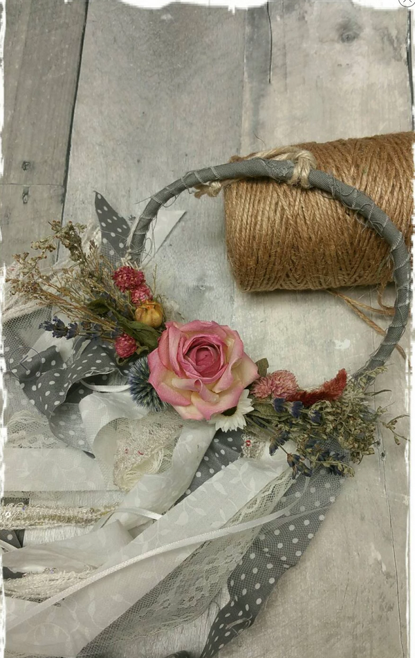 Limited Edition Floral shabby chic wall hanging home decor