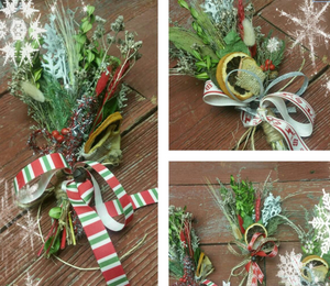 Winter Dried Botanical Ornament 3 - Small Bouquet