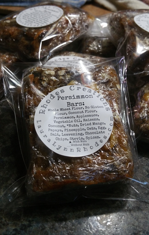Low Gluten No Sugar Seasonal Persimmon Bars or Sweet Bread set of 8 Local Customers Only