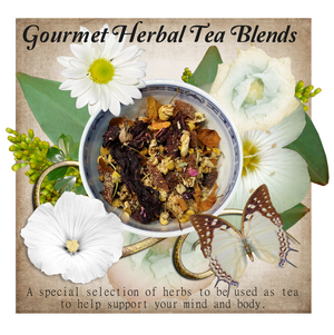 Gourmet Herbal Tea Blends Sample in 2 tea bag package* Set of 4
