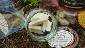 All Natural Peppermint Rosemary Tea Tree Soap