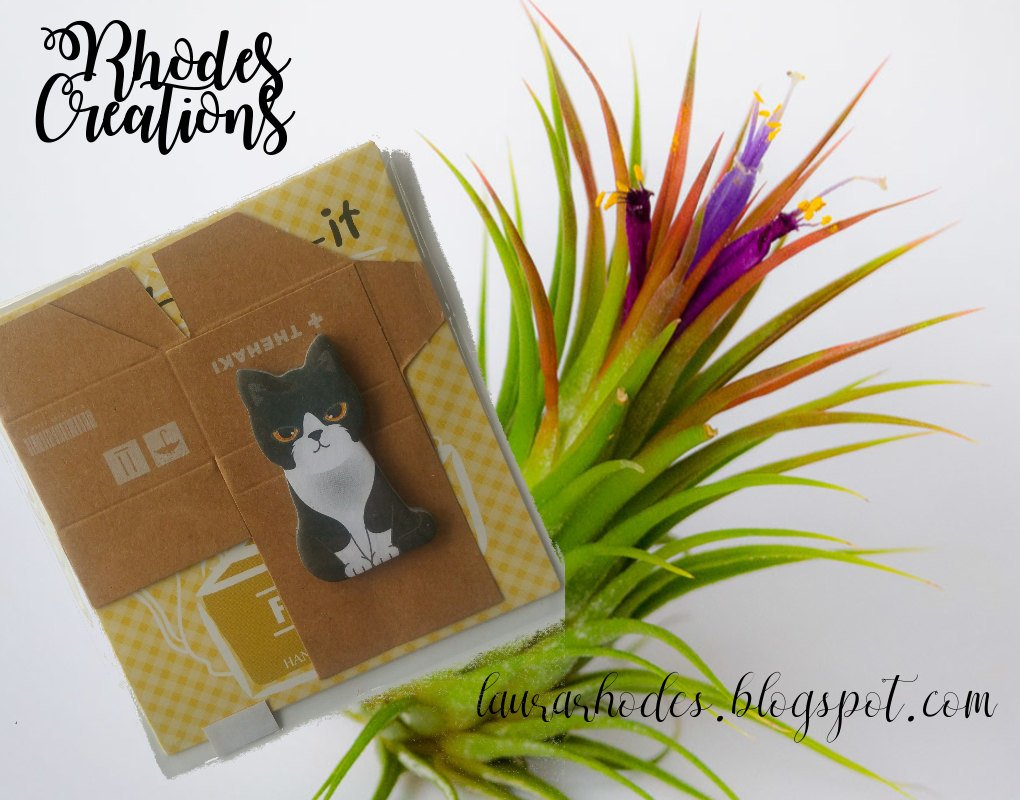 Mini Sticker Cute Black and White Kitty Stationery Sticky Notes*Korean Stationery