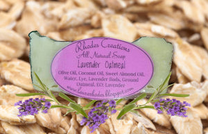 All Natural Lavender Oatmeal Soap