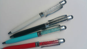 Elegant Stylus combo pen with crystals*Single Pen with clip*You choose Color