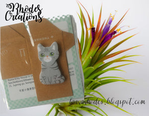 Mini Sticker Cute Gray Kitty Stationery Sticky Notes*Korean Stationery