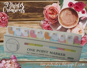 One Point Marker*Mini Alpacas- Sticky Notes* Korean Stationery*One package