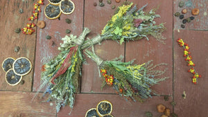 Nature's Bounty Dried Herb*Home Decor* Dried Floral Ornament- Autumn Vintage Farmhouse theme Decoration* All Natural from Nature* Set of 3