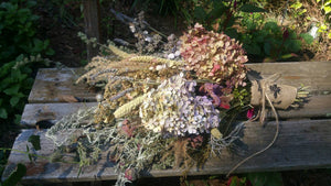 Dried Extra Large Floral Bouquet- Hydrangea* Celosia* Herbs and more
