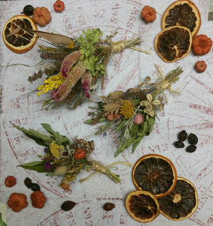 Nature's Bounty Dried Herb*Home Decor* Dried Floral Ornament- Autumn Vintage Farmhouse theme Decoration 2* All Natural from Nature* Set of 3