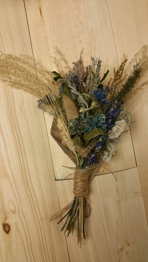 Blue Belle Dried Floral Bouquet Ornament